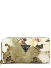 GUESS FACTORY ABREE ZIP-AROUND WALLET WITH FLOWERS
