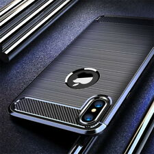 Shockproof Carbon Fiber Slim Soft Cover Case For iPhone XS Max XR XS 8 6s 7 Plus