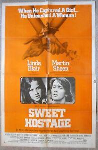 "SWEET HOSTAGE Original One Sheet 27x41"" Rare US Movie Poster Xanadu Film 1975"