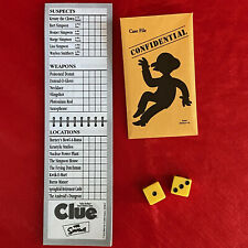 The Simpsons Clue Board Game 2nd Edition Replacement Pieces Dice Case File Pad