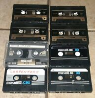 Cassette tape Lot 7 Pre Recorded Maxell 90 MINUTE UDXLII/XLII old JAPAN used