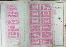1914 Bromley Manhattan Morningside Heights Original Map Atlas 116th -122nd 22X36