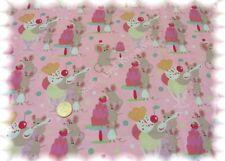 Delicios Sweeties rosé Baumwolle Popeline Hilco 50 cm Webware Kinderstoff Maus