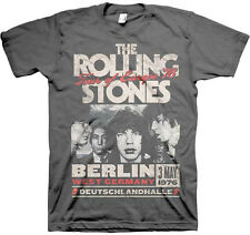 The Rolling Stones-Tour of Europe 76-X-Large Charcoal Gray T-shirt