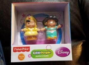 New Disney Fisher Price Little People Jasmine & Aladdin Figures