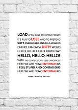 Nirvana - Smells Like Teen Spirit - Song Art Poster - A4 Size