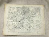 1910 Antique Map of Sussex Tunbridge Wells Town Broadwater Down