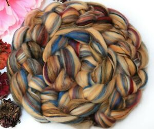 SANDALWOOD - Merino Wool Roving Color Blend Combed Top Spinning Felting - 4 oz