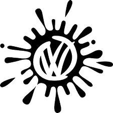 """VOLKSWAGEN VW Extra Grande 17"""" logo Calcomanías Adhesivas X2 Transporter T5 T4 caravanas"""