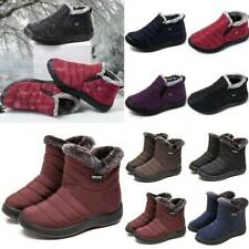 Women Slip On Snow Thermal Booties Ladies Winter Warm Fleece Lined Ankle Boots