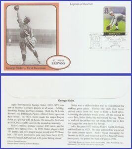 USA5 #3408e U/A MYSTIC FDC Legends of Baseball George Sisler