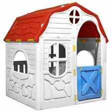 vidaXL Speelhuis Inklapbaar met Deuren en Ramen Kinderspeelhuis Speelhuisje