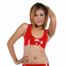 Latex Rubber Red Bra Brassiere Top Bustier (one Size)