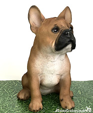 More details for large 29cm tan french bulldog ornament figure decoration frenchie dog lover gift