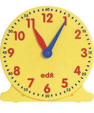 LEARNING ADVANTAGE Geared 12 Hour Demonstration Clock | Learn To Tell Time - NEW