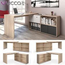 VICCO Eckschreibtisch FLEXPLUS Eiche Sonoma - Computer Bürotisch PC Schreibtisch