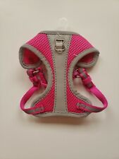 Top Paw XX-Small Reflective Adjustable Comfort Dog Harness. Pink/Grey. New.