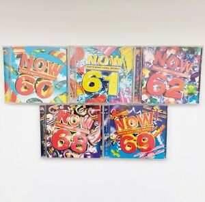 Now That's What I Call Music 60,61,62,68,69. Bundle Joblot CD's Double Disc