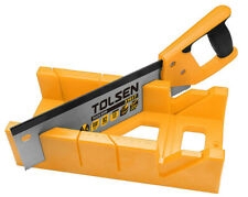 "NEW GRIPro Tolsen Mitre Box Block & Tenon Hand Saw Angle Cutting Box 300mm 12"""