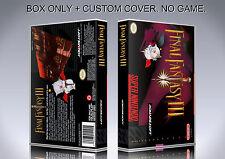 FINAL FANTASY 3. NTSC VERSION. Box/Case. Super Nintendo. BOX + COVER. (NO GAME).
