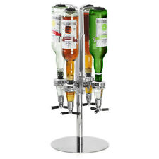 Rotary 4 Bottle Stand with 35ml Measures - Rotating Drinks Optics Dispenser