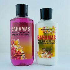 Bath & Body Works BAHAMAS Passionfruit & Banana Flower Body Lotion & Shower Gel