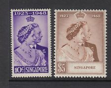 Singapore: 1948 Silver Wedding Set of 2 Stamps SG31-32 LMM & MNH