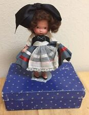 Nancy Ann Storybook Doll ~FRENCH  #25 in BLUE BOX W/SILVER MS, MB, PT JT 1939
