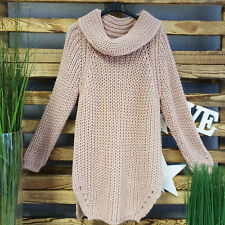 Italy Only's Long Strickpullover Rosa Made in Italy  Top Aktuell Gr. 36 / 38