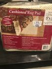 Rug Cushioned Pad 5 Ft By 8 Ft Factory Sealed Protects Floor And Carpet