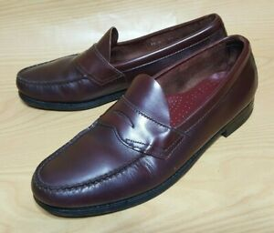 Dexter Penny Loafers 9.5 D Slip On Dress Casual Shoes Moc Toe Black Leather Men/'s Vintage Made In USA 60s 70s