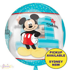 MICKEY MOUSE 1ST BIRTHDAY PARTY SUPPLIES 40CM ORBZ FOIL BALLOON DECORATIONS