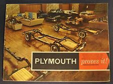 1955 Plymouth Proves it Brochure Belvedere Plaza Savoy Nice Original 55