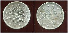 TURQUIE   2  piastres   1293  ( 33 )  1876/1909   ARGENT