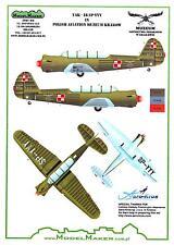 Model Maker Decals 1/72 YAKOVLEV Yak-18 Polish Air Force
