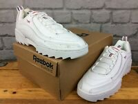 REEBOK UK 5 EU 37.5 RIVYX RIPPLE WHITE RED BLUE TRAINERS RRP £70 CHILDRENS LG