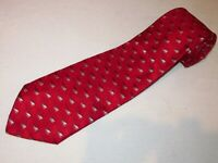 New Jos A Bank Tie Extra Long XL Signature Red Silver Geometric Thick Woven Silk