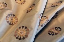 """""""Swivel"""" embroidered decorator fabric by Bravo in Mineral colorway"""