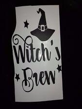 Halloween Inspired Vinyl Sticker for Wine Bottle - Witch's Brew