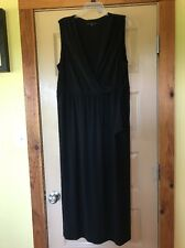 Women's Tiana B Black Sleeveless Front Tie Maxi Dress Size 1X