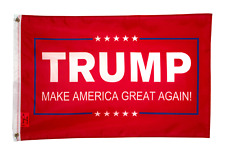 2x3FT President Trump Make America Great Again Red Flag Banner Grommets MAGA USA