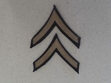 US Army private first class chevrons rank insignia matched pair (Lot B17)