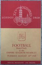 More details for sweden v denmark semi final football olympics london 1948
