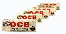 OCB Organic Hemp Natural Unbleached Cigarette Rolling Papers 6 Packs