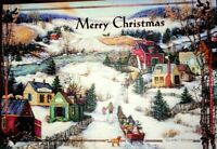 """""""SLEIGH RIDE"""" Petite Boxed Christmas Cards (12 Cards) by LINDA NELSON STOCKS"""