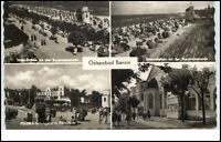 Bansin Ostseebad Usedom DDR 4-fach Mehrbild AK Strandleben Kurpromenade ua. 1966