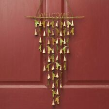 Metal Hummingbird Bird Bell Welcome Wind Chime Wall Door Decor 34""