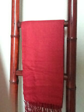 BAMBOO SCARF/ WRAP RED