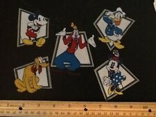 Disney Mickey Mouse , Minnie , Donald ,Pluto , & Goofy fabric iron on appliqués