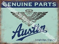 Austin Old Classic Car Badge, 111 Vintage Garage, Spares, Large Metal Tin Sign
